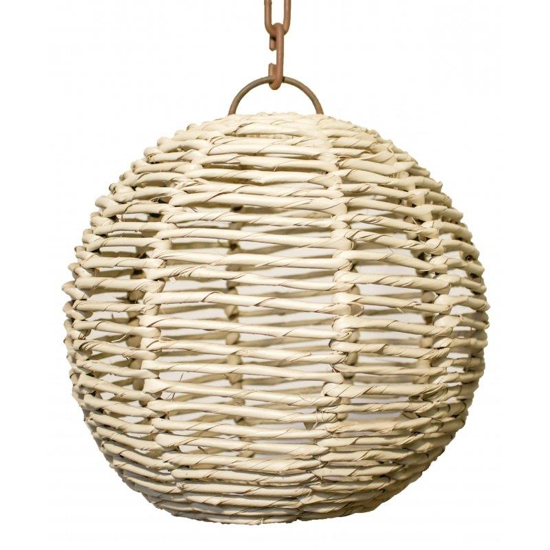 "Rattan ""Palm"" Sphere Pendant  Light"