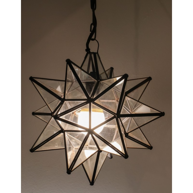 Clear Glass Hanging Star