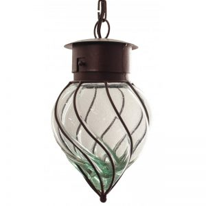 "''Flama-MED"" Wrought iron and blown glass lamp"