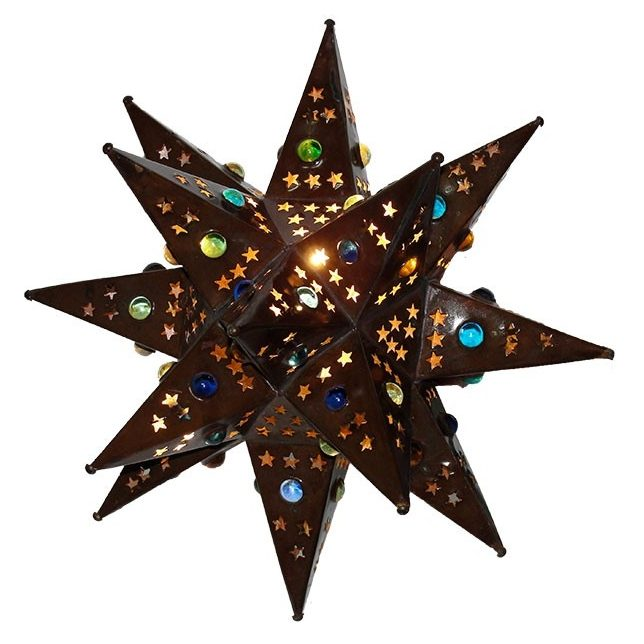 WALL-Bronze Tin Star With Marbles