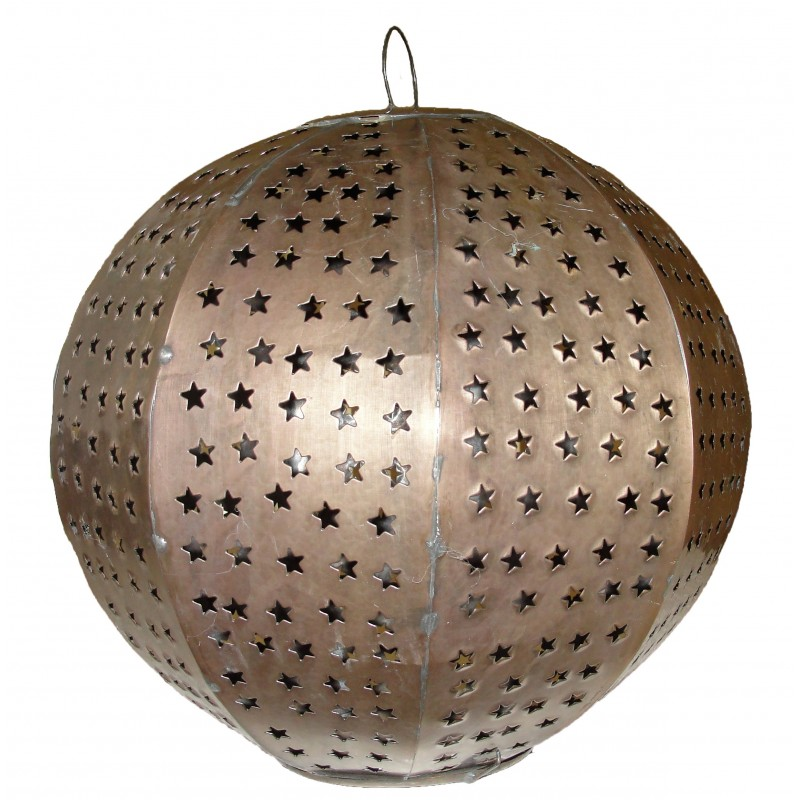 """Esfera"" Punched Tin Hanging Sphere"